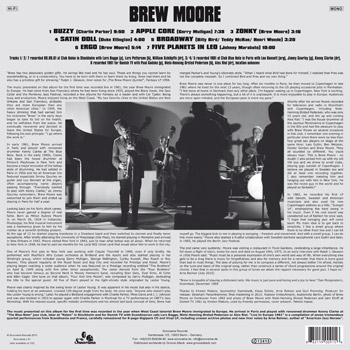 BREW MOORE Live In Europe 1961 Back